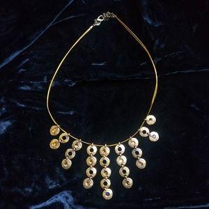 Jewelry - Vintage goldtone cascading boho choker necklace